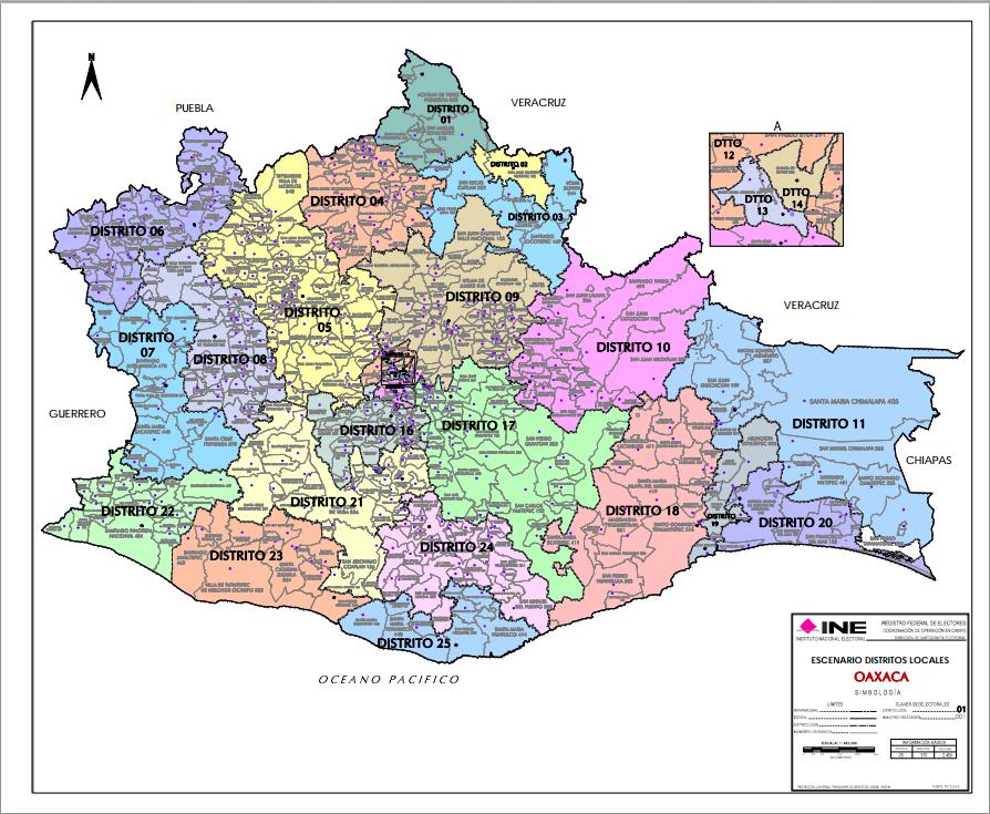 aprueba ine redistritación de oaxaca pierde el distrito de santa