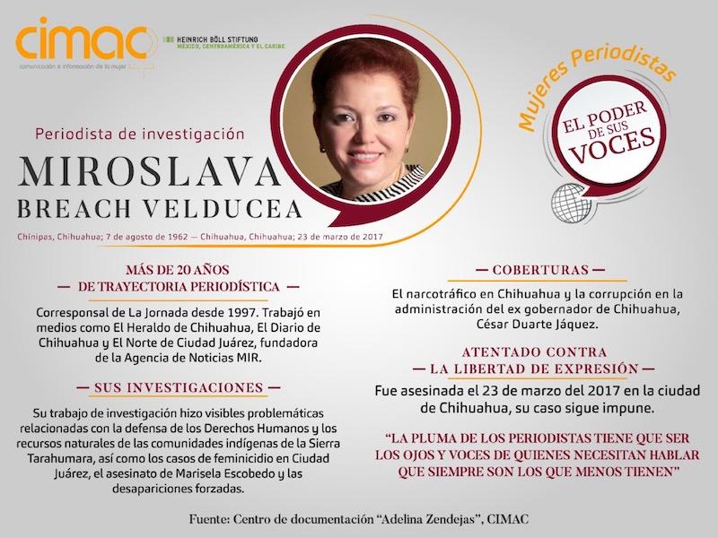 Homenaje A La Periodista Miroslava Breach 1er Aniversario Luctuoso