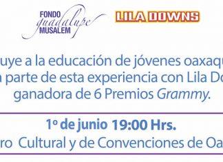 Velada por la educación de las mujeres Lila Downs