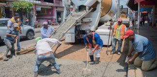 Concluye gobierno de Tuxtepec reposición de losas