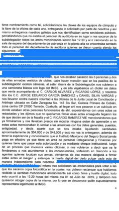 Denuncia ante la CNDH contra el IMSS Pagina 3