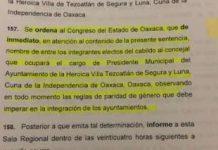 se ordena a la LXIV Legislatura decidir presidente en tezoatlán de segura y luna pagina 3