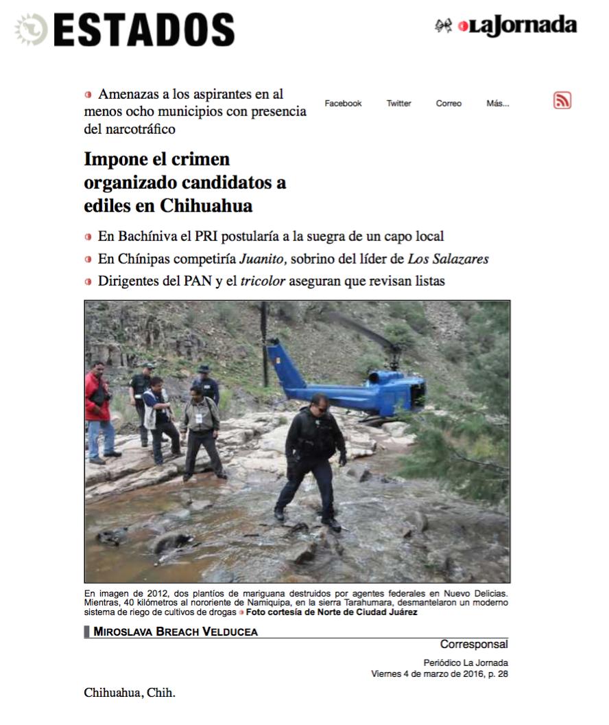 Impone crimen organizado candidato en Chihuahua pagina 3