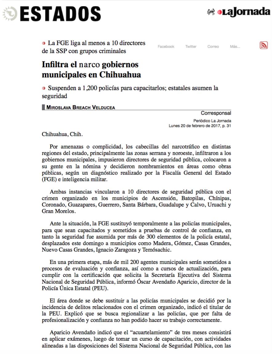 Infiltra el narco gobiernos municipales en Chihuahua pagina 3