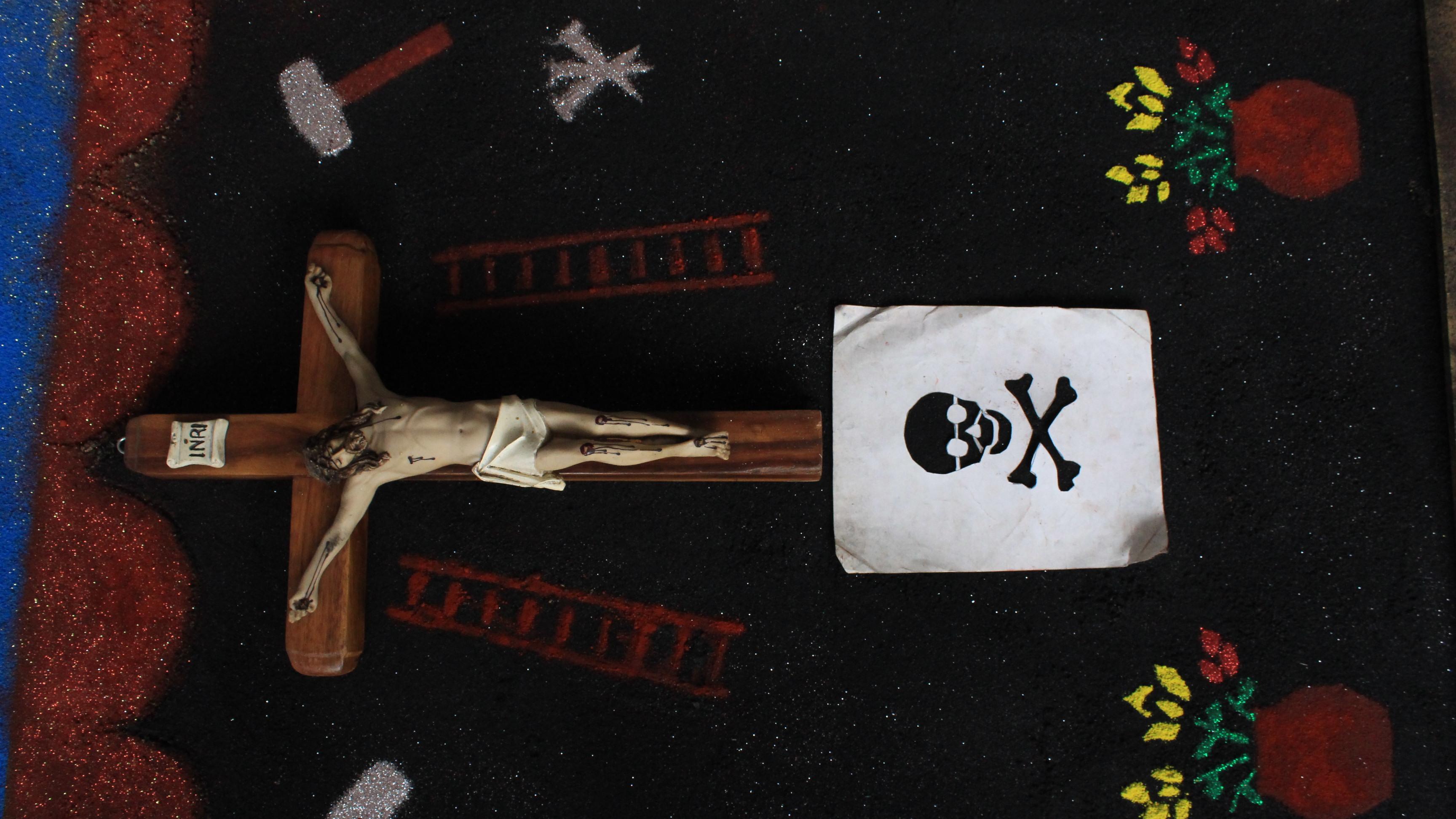tapete o cruz en Xoxocotlán