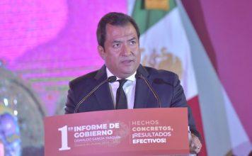 Rinde Oswaldo García Jarquín Primer Informe de Gobierno