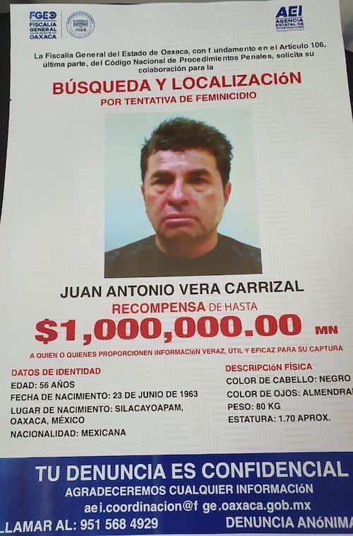 Ofrecen 1 millón de pesos por Vera Carrizal