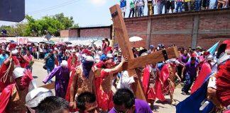 Representación 45 del viacrucis en Tlalixtac podría conmemorarse sin público