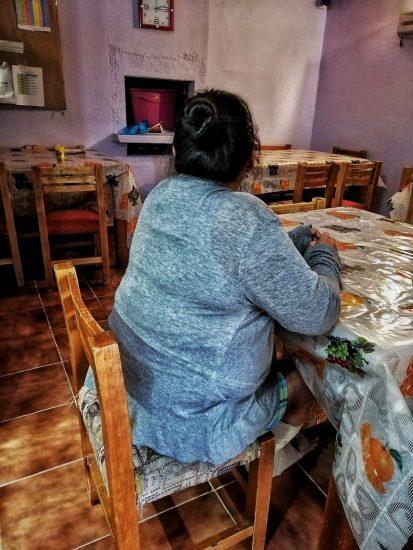 Lucero de 30 años, se recupera del maltrato en un refugio de mujeres en la Ciudad de México. Foto/Refugio de mujeres