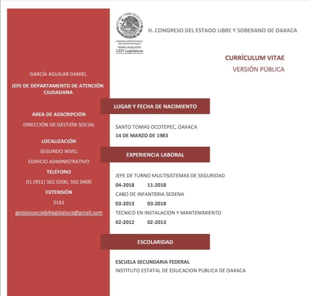 Nepotismo en el Congreso del estado de Oaxaca